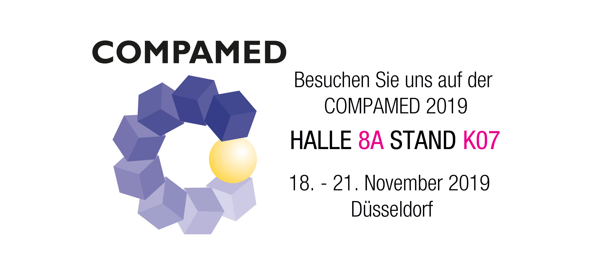 COMPAMED 2019 - 18. - 21. November in Düsseldorf
